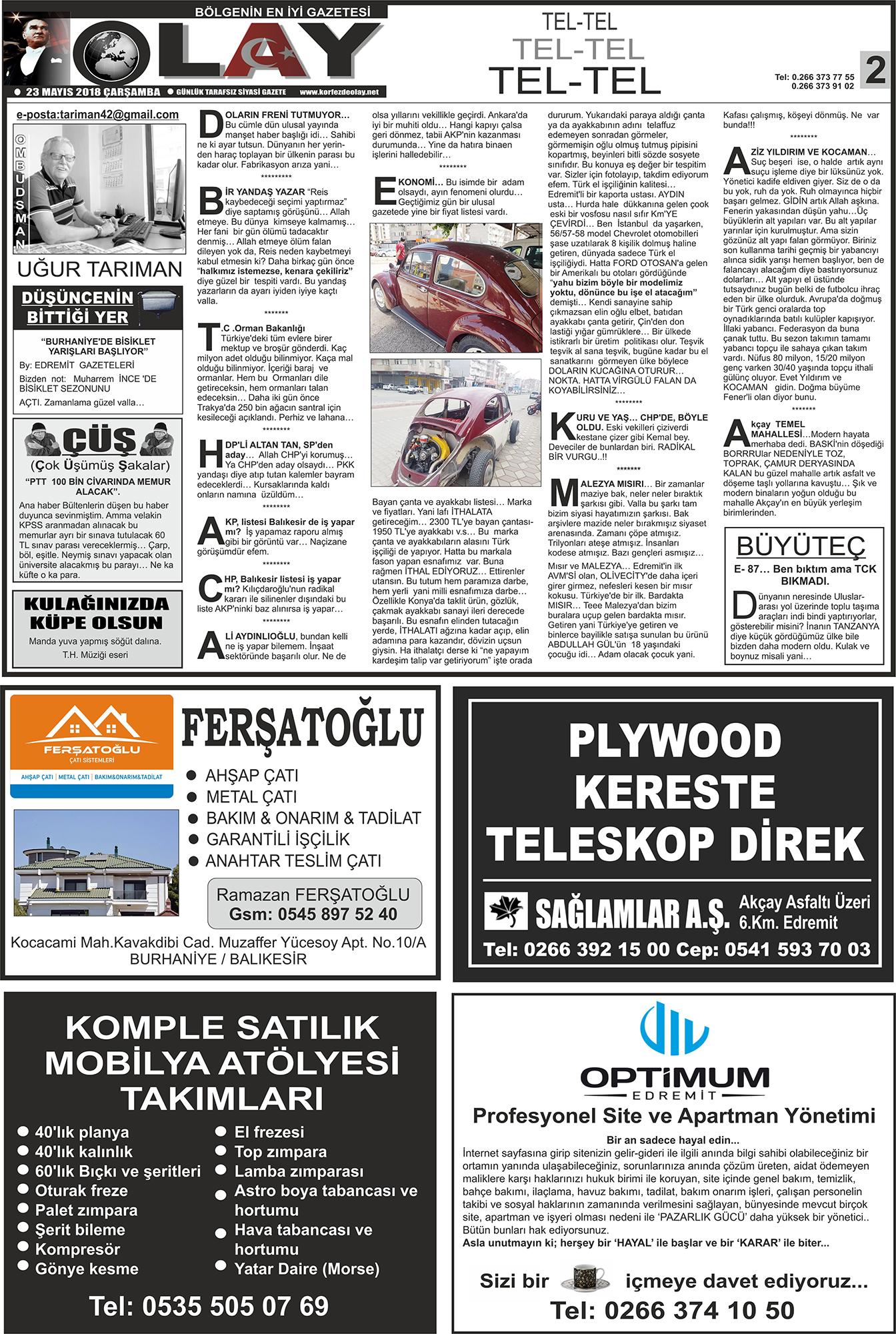 7 Eylul 2012 Gazetemiz Foto Galeri Edremit Olay Gazetesi